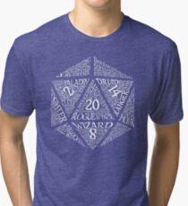 Table Top RPG D20 Tri-blend T-Shirt