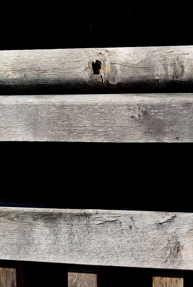 Shadows and wood by JimWhitham