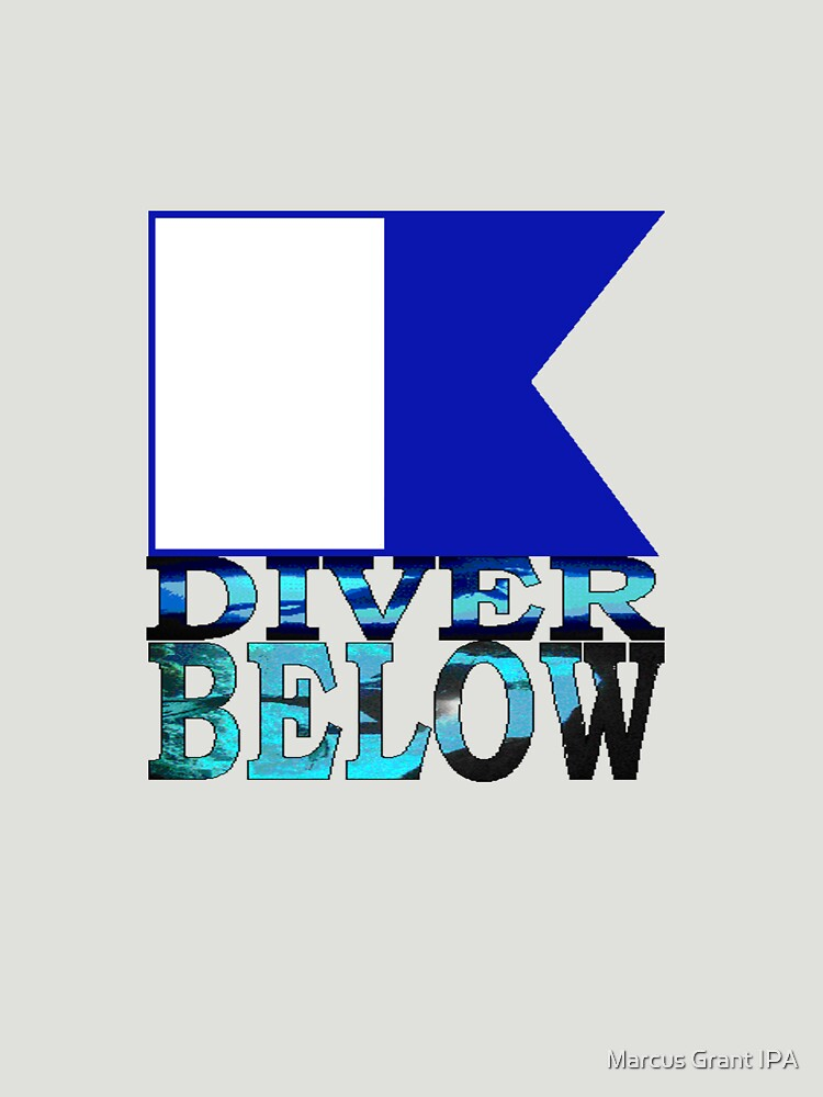 Diver Below Blue Flag by racoon