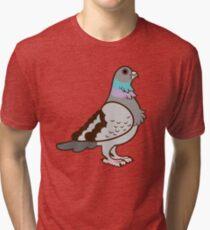 Pigeon Pattern Tri-blend T-Shirt