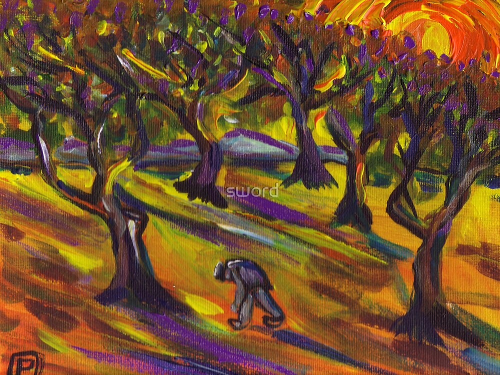 Grove of olives by sword