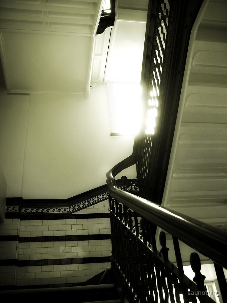 Sunshine and stairs by saynothing