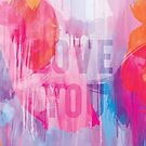 Mothers Day - Abstract Design 4 - Love You by Belinda Lindhardt