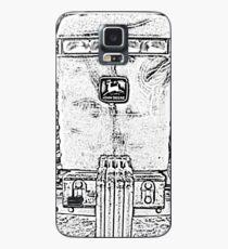 John Deere Tractor Black and White Chrome Photo Design Case/Skin for Samsung Galaxy