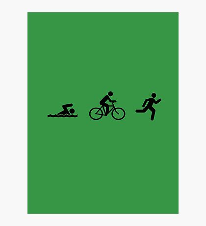 Triathlon Photographic Print