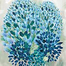 Abstract Blue by Belinda Lindhardt