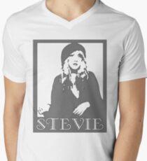 STEVIE NICKS GRAYSCALE Men's V-Neck T-Shirt