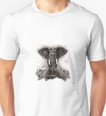 Elephant on walk Unisex T-Shirt