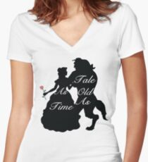 Beauty and Beast Women's Fitted V-Neck T-Shirt