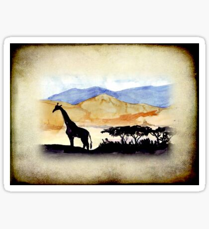 Lodge décor - Silhouettes against an African sky Sticker