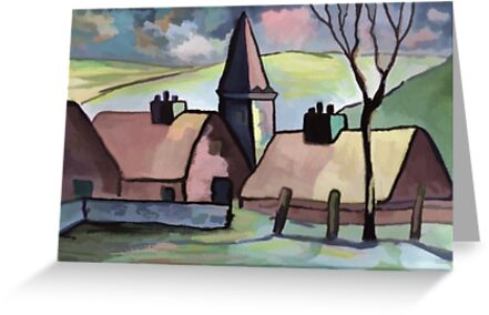 A french village scene by sword