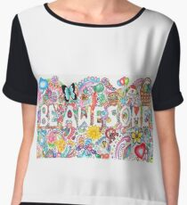 Be Awesome-Doodle Art Chiffon Top