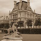 Lion Statue, Tuilerie Gardens by APhillips