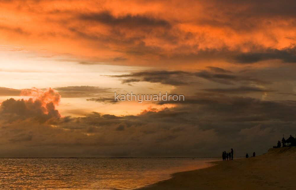 clouds over Indian Ocean by kathywaldron