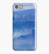 Mountains and clouds - aerial view iPhone Case/Skin