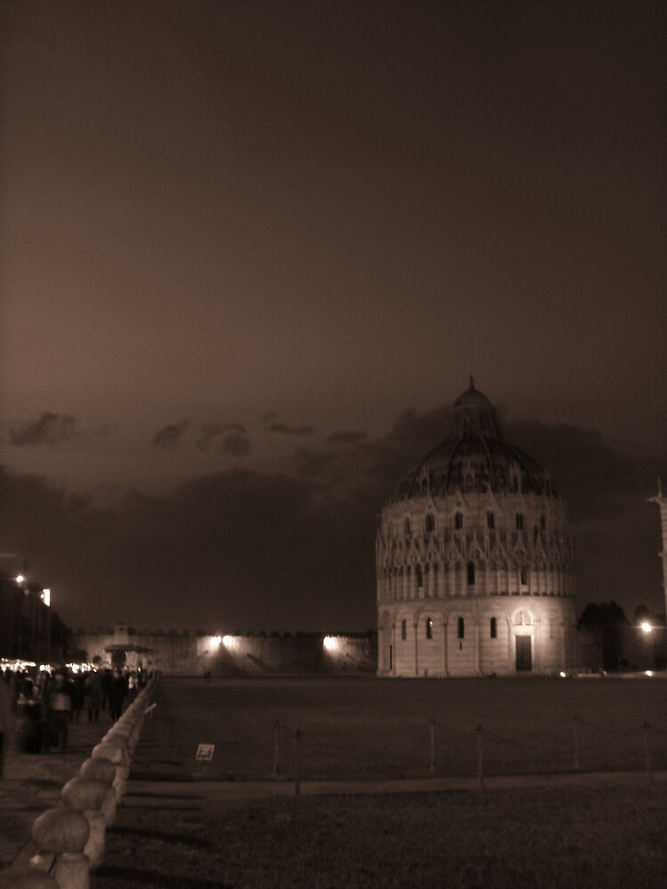 The Baptistery by night by Lisa Trainer