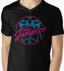 Black Mirror San Junipero NEON Men's V-Neck T-Shirt