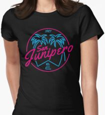 Black Mirror San Junipero NEON Women's Fitted T-Shirt