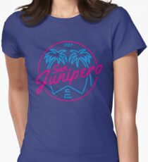 Black Mirror San Junipero PLAIN Women's Fitted T-Shirt