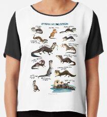 Otters of the World Chiffon Top