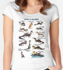 Otters of the World Women's Fitted Scoop T-Shirt
