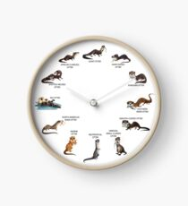 Otters of the World Clock