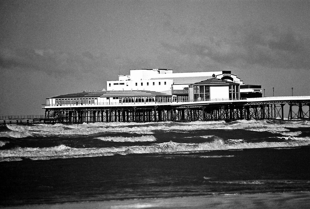 Blackpool Pier On A Stormy Day by Shadowfax