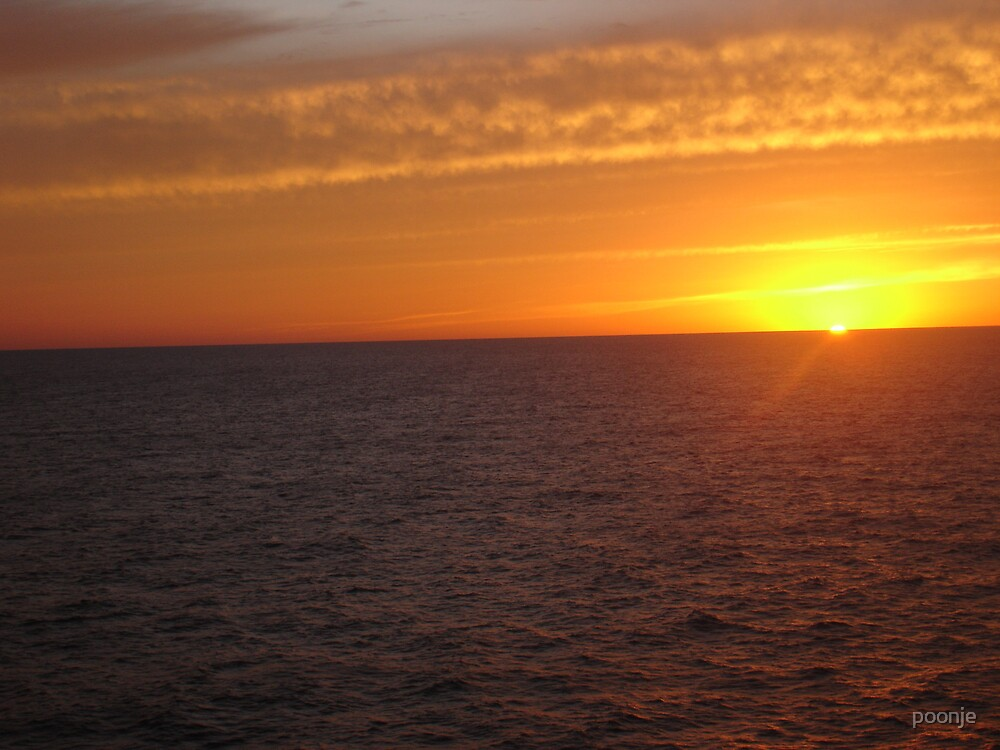 Sun set at Gulf of Mexico by poonje