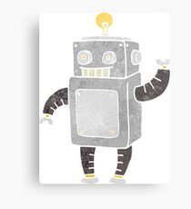 retro cartoon robot Canvas Print
