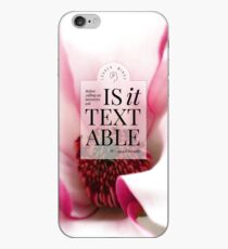 Is it textable? (Magenta Bloom) iPhone Case