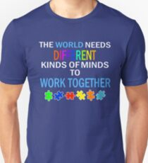 Autism Awareness Support Puzzle Ribbon Funny Humor Saying Unisex T-Shirt