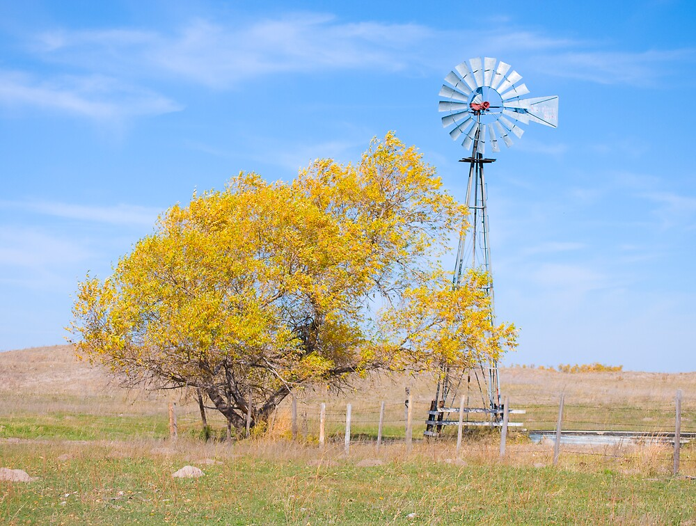 Autumn Windmill by Ian Moreland