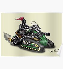 STEAMPUNK 'CAN AM' SPYDER STYLE KNIGHT RIDER MOTORCYCLE Poster