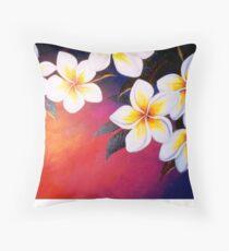 Frangipani Sunset Throw Pillow