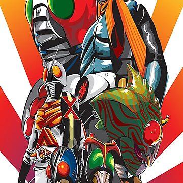Kamen Rider Showa Era by Daftie