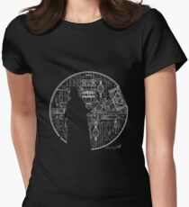 Darth Vader Death Star  Womens Fitted T-Shirt