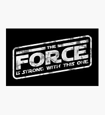 Star Wars - The Force Is Strong With This One Darkside Photographic Print