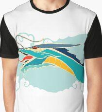 Cyan dragon Graphic T-Shirt