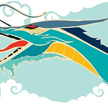 Cyan dragon by Sloosh