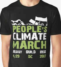Peoples Climate March Tshirt April 29 Save the Plant Global Warming Slogan Graphic T-Shirt