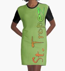 St. Tropez Graphic T-Shirt Dress