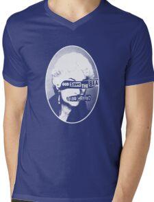 God Save the Bea (White) Mens V-Neck T-Shirt