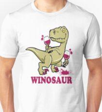 Cute - Winosaur Wine Dinosaur T-Shirt
