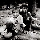 Angkor boys by Anthony Begovic