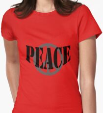 Peace Tee Womens Fitted T-Shirt