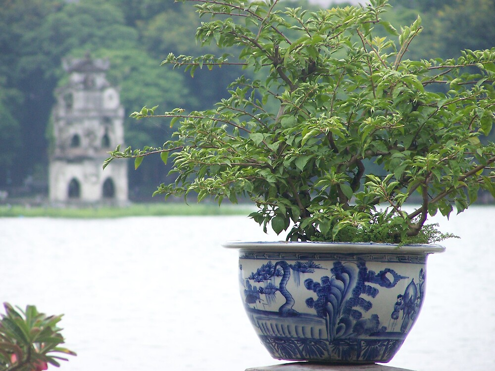 Hoan Kiem Lake Hanoi by katewest
