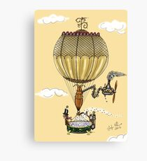 STEAMPUNK HOT AIR BALLOON (Gold) Canvas Print