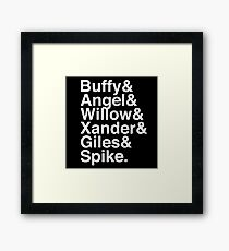 The Scooby Gang Classic White Framed Print