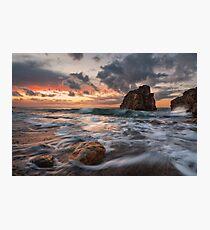 Shades at sunset Photographic Print