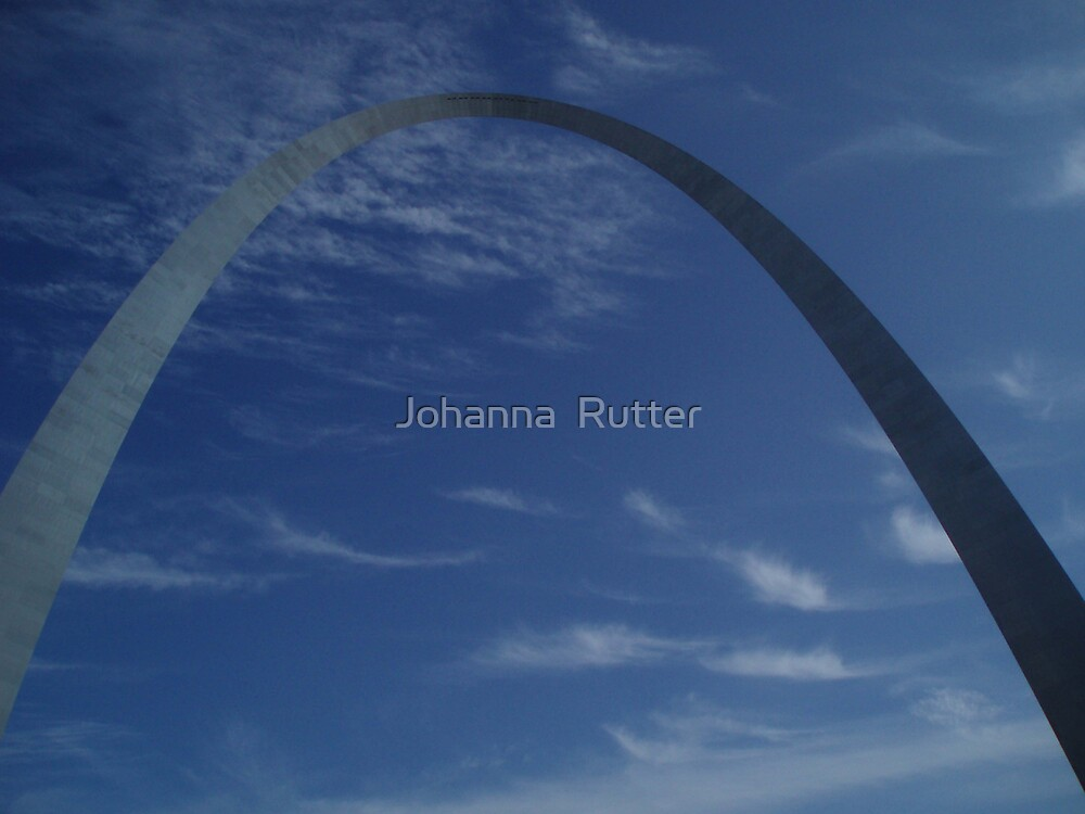 arch and clouds in st.louis by Johanna  Rutter